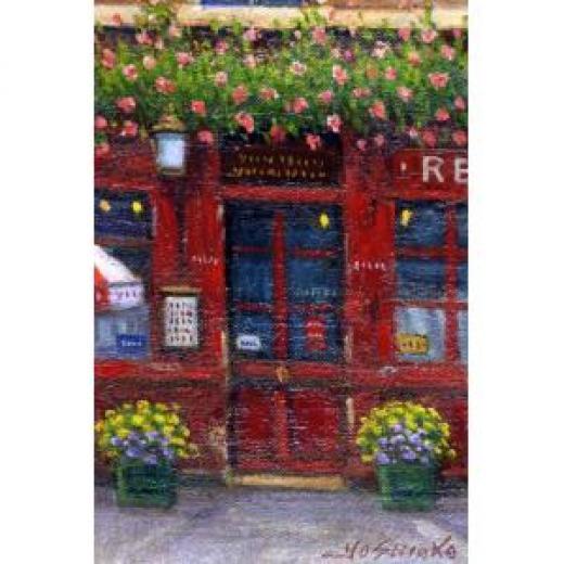 赤いレストラン 赤いレストラン126,000円(税込み)吉岡健二油絵作品 サイズ:SM ...