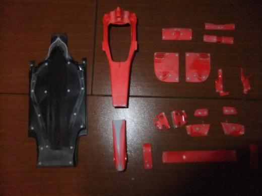 Ferrari F60 TAMIYA 1/20 を作る。【2】画像