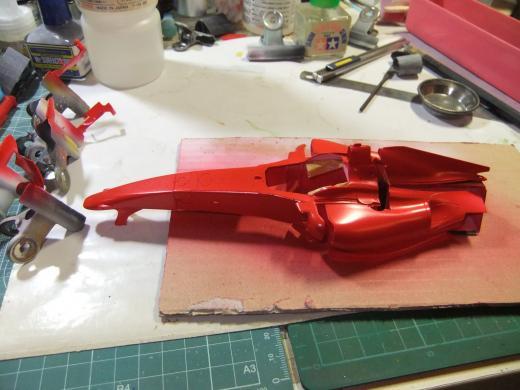 Ferrari F60 TAMIYA 1/20 を作る。【4】画像