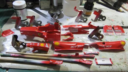 Ferrari F60 TAMIYA 1/20 を作る。【5】画像