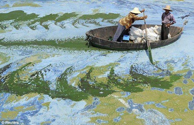 【画像】中国の汚染した川の画像が最早絵画レベルwwwwwwww画像